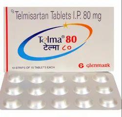 Telma 80 Telmisartan, 15 Tablets In 1 Strip