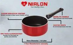 Nirlon Non Stick Aluminium Sauce Pan 18CM