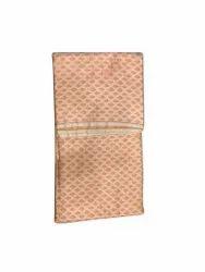 Orange Printed Silk Jacquard Fabric
