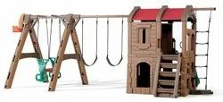 Playground Equipment Plastic Step2 Naturally Playful Adventure Lodge Play Center with Glider, Child Age Group: 3-8 Years