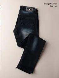 Slim Fit Zipper Blue Denim Men Party Wear Stretchable Jeans