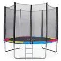 Toy Park 8 Ft. Colourful Premium Enclosed Trampoline (PI 561)