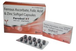 Ferrous Ascorbate Folic Acid And Zinc Softgel Capsules, 10x1x10, Blister
