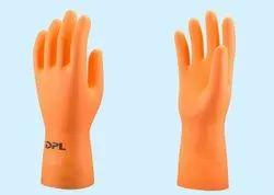 DPL Flock lined Industrial Rubber Hand Gloves