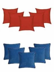 COTTON AND VELVET CUSHION COVERS