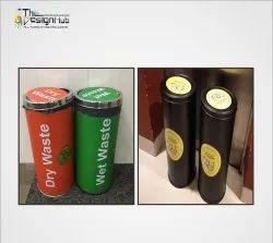 Vinyl Dustbin Sticker, Packaging Type: Packet