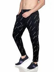 Lycra Track Pants Full Body Print Slim- Fit Joggers For Men By Royster Callus