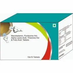 Mecobalamin, Pyridoxine HCI, Alpha Lipotic Acid, Thiamine Hci & Folic Acid Tablets
