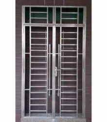 Hinged Silver Residential Stainless Steel Gate