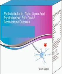 Methylcobalamin, Alpha Lipotic Acid, Pyridoxine, Folic Acid & Benfotiamine Capsules