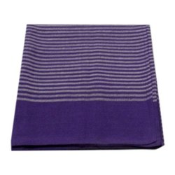 Purple Handloom Bed Cover