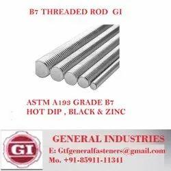 Carbon Steel Full Thread GI Threaded Rods ASTM A193, For Industrial