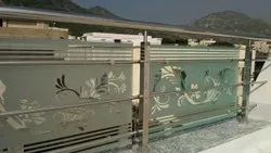 Balcony Frosted Glass Work