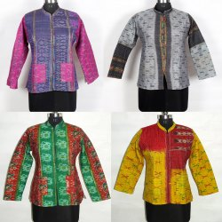 Silk Machine Quilted Allover Patola Jacket