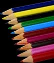 Trangle Poly Wood Colored Pencil, For Coloring, Packaging Size: 12 & 10
