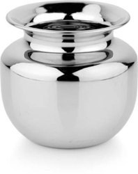 Stainless Steel Polished Lota, For Kitchen, Size: 8inch