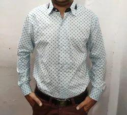 Mayzuna Cotton Men Printed Shirt, Size: 38
