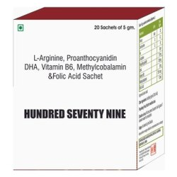 L Arginine, Proanthocyanidin, DHA, Vit B6, Methylcobalamin & Folic Acid Sachet