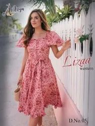Party Wear 6 Color ANK Enterprise Readymade Western Dresses, Size: Free Size