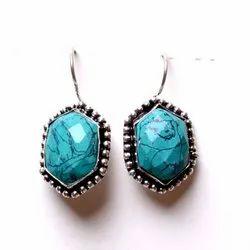Turquoise Gemstone Designer Earrings