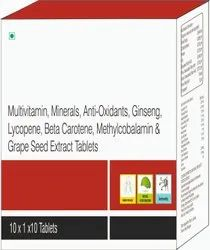 Multivitmin, Minerals, Anti- Oxidants, Seed Extract Tablets