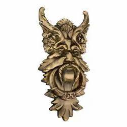 12 Inch Monarch Antique Brass Door Knocker