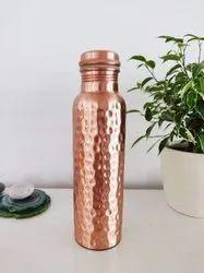 Hammered Copper Bottle 950ml Matte Finish / Glossy Finish