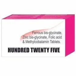 Ferrous Bis Glycinate Zinc Bis Glycinate Folic Acid & Methylobalamin Tablets