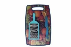 Plastic Chopping Board With Knife And Grater
