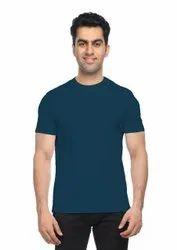 Half Sleeve Cotton Mens Plain Round Neck T Shirt, Size: S TO 2XL