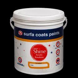 Surfa Coats Shine Acrylic Emulsion Paints Packaging Size: 4 Litre