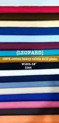 Leopard 100% Cotton Heavy Calvin Drill Plain Shirting Fabric