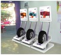 3 Tier Mobile Retail Tire Rack Cart