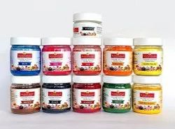 Powder 25 Grams X 11 Colours Chocolate and Cream Soluble Colour Set