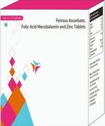 Ferrous Ascorbate, Folic Acid Mecobalamin And Zinc Tablets