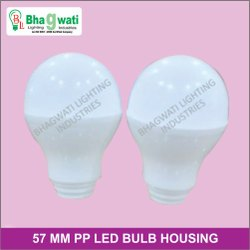 57MM PP LED Bulb Housing With Diffuser ( 9W )