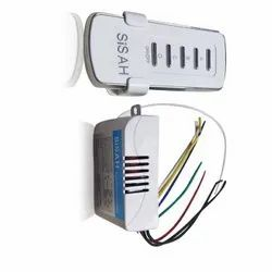 ABS Plastic 220V 2 and 2 CH 2 Receiver and 1 Transmitter Wireless Remote Control Switch