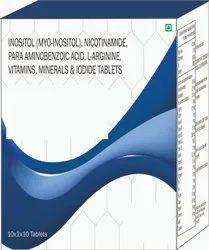 Inositol (myo-inositol), Nicotinamidem Minerals & Iodide Tablets