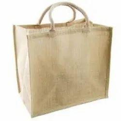 Long Shoulder Length Brown Fancy Jute Bag