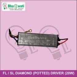 20W Street Light / Flood Light Diamond (Potted) Driver