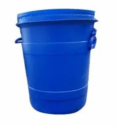 Blue 35L HDPE Open Top Drum, For Industrial, Capacity: 35Litre