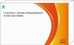 L-carnitine, L-tartrate, Methylcobalamin & Folic Acid Tablets