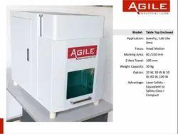 Table Top Fiber Laser Marking Machine, 100 Mm X 100 Mm, Capacity: 20 Watt, 30 Watt & 50 Watt