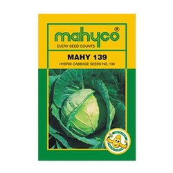 Green Hybrid Cabbage - Mahyco / Mahy 139, For Agriculture, Packaging Type: Pouch
