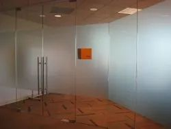 Swing Plain Toughed Glass Door, For Office, Thickness: 12mm
