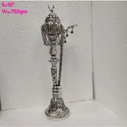 Brass Silver Plated  Hookah For Decoration, Use & Corporate Gift.