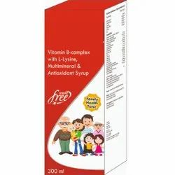 Vitamin B-complex With L-lysine, Multimineral & Antioxidant Syrup