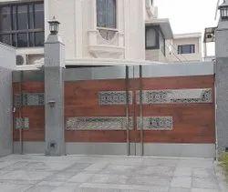 7 Feet Stainless Steel Main Gate, For Residential