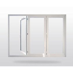 Nandhini Trading White PVC Hinged Window, Glass Thickness: 5 Mm