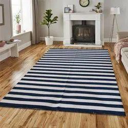 Vimla International Striped Cotton Stripes Rug,Floor And Rugs,Handwoven Area Rug,Boho Rug, Size: 6 X 9 Feet
